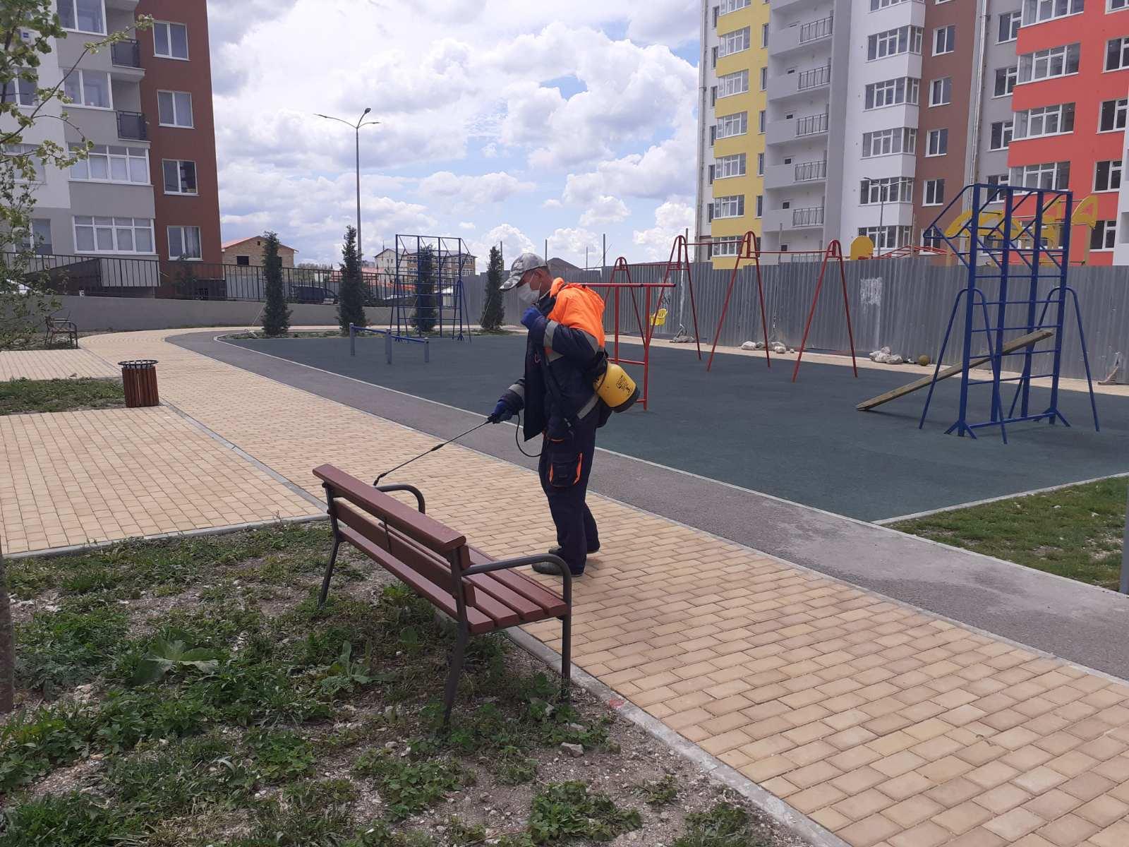 Санитарная обработка детской площадки